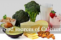 Food sources of calcium