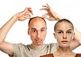 balding man and a woman