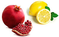 lemon, pomegranate