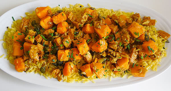 curry sweet potatoes with tofu