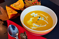 Pumpkin And Kohlrabi Soup